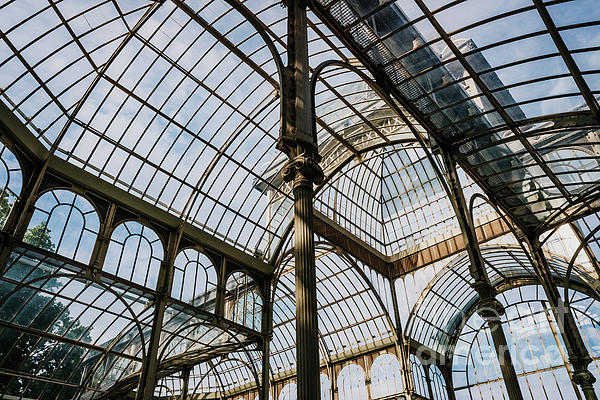 Interior of the Crystal Palace in Madrid, a must for tourists. by Joaquin Corbalan